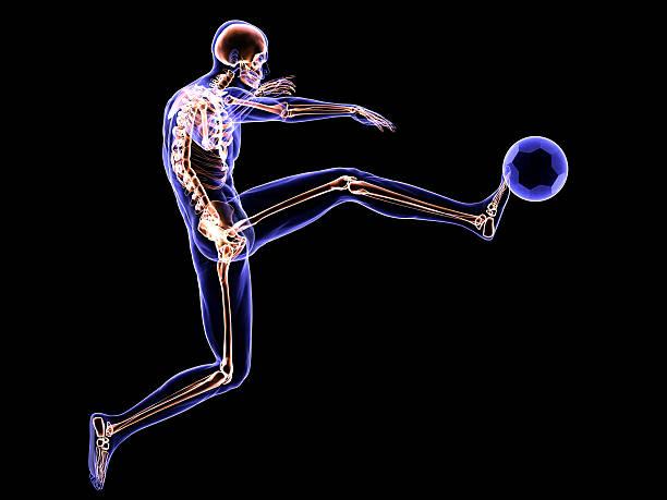 x-ray jogador de futebol - ronaldo imagens e fotografias de stock
