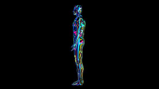 692684668 istock photo x-ray humain body colorful, humain body scan 1186538518