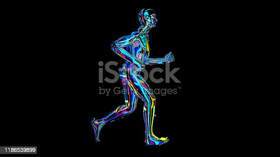 692684668istockphoto x-ray humain body colorful, humain body scan 1186539899
