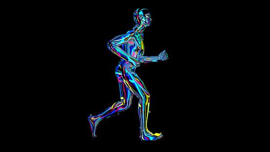 692684668 istock photo x-ray humain body colorful, humain body scan 1186539899