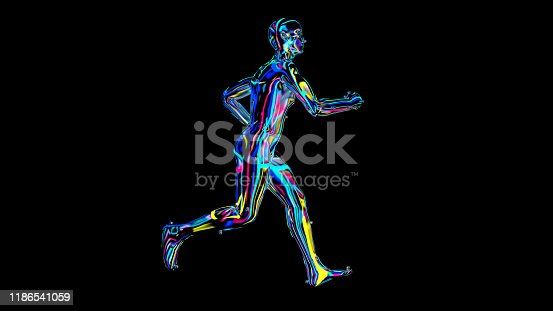 692684668istockphoto x-ray humain body colorful, humain body scan 1186541059