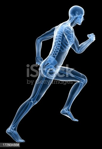 istock X-ray human body of a man with skeleton running 172934558
