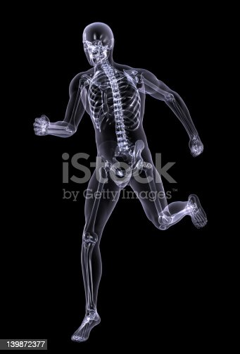 istock Xray Man Running - with clipping path 139872377