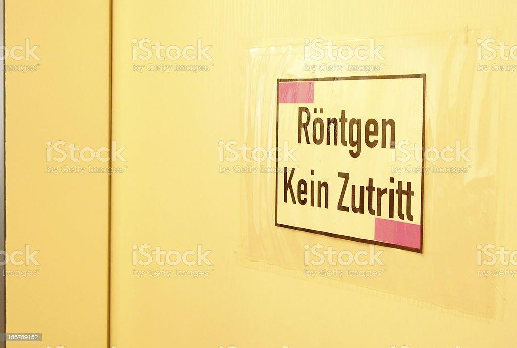 Röntgen - Kein Zutritt stock photo