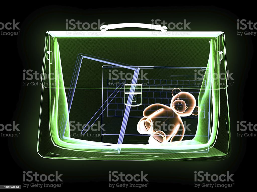X-Ray Scanner und sichere Tasche – Foto