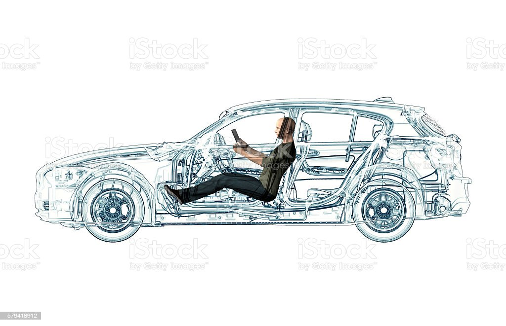 xray self driving electronic computer car stock photo