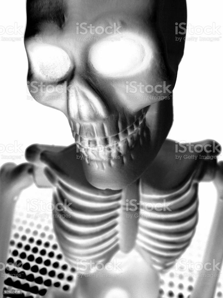 X-Ray Skeleton Guy royalty-free stock photo