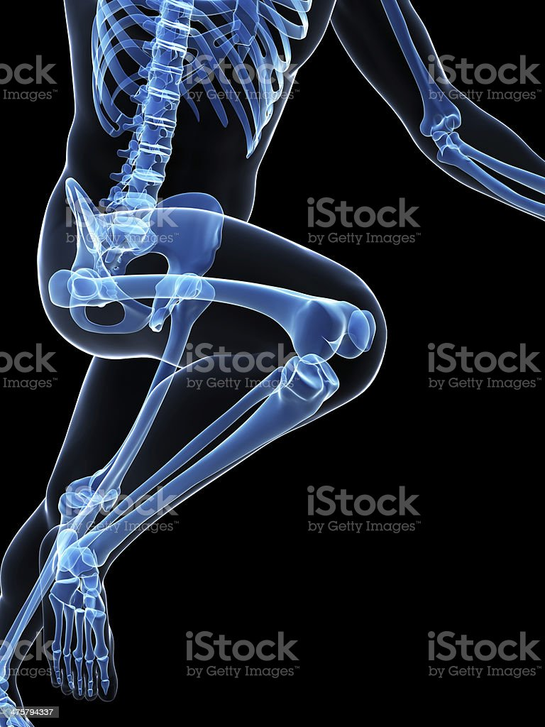 x-ray style runner stock photo