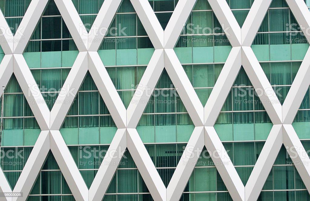 X-shaped framed windows. royalty free stockfoto