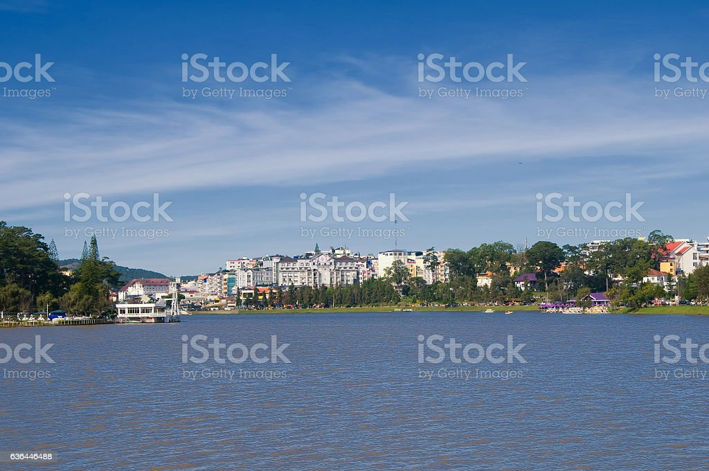 Xuan Huong lake, Dalat city, Vietnam stock photo