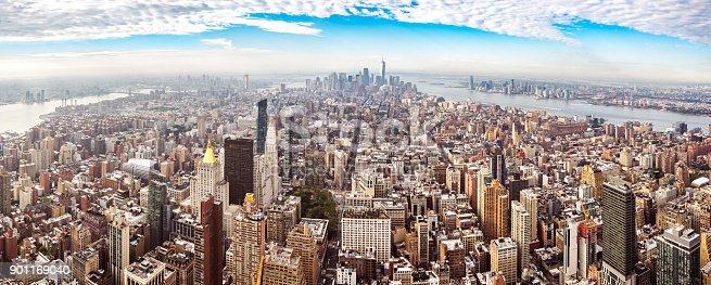 istock xxl Panoramic view downtown midtown manhattan new york morning 901169040