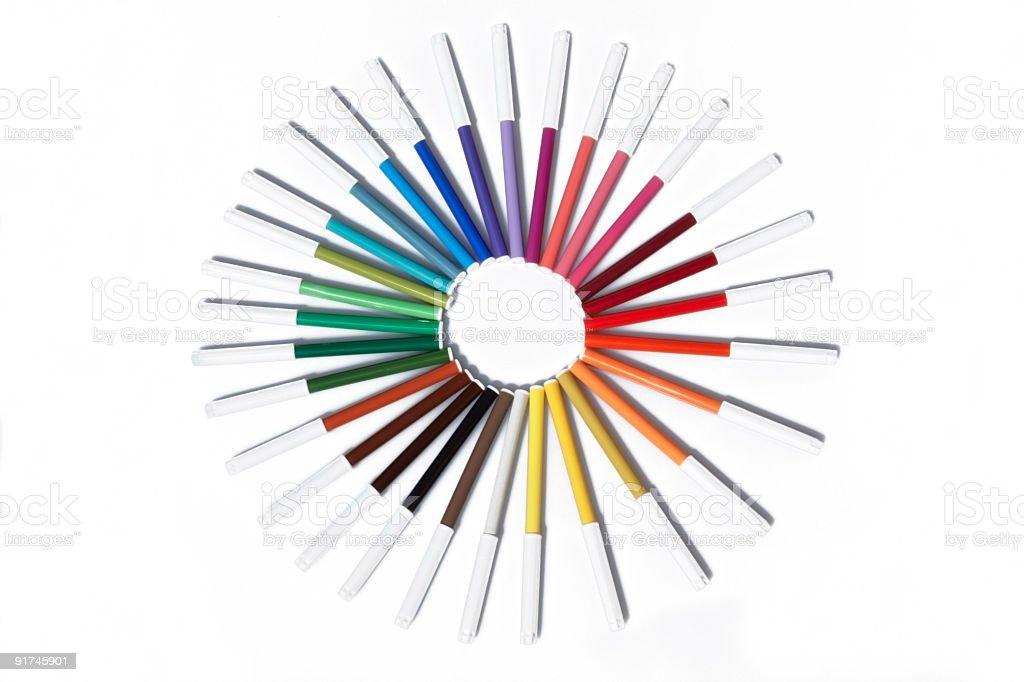 XXXLarge colourful felt pens royalty-free stock photo