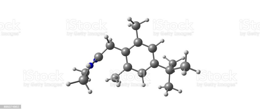 Estructura Molecular De La Xilometazolina Aislado En Blanco