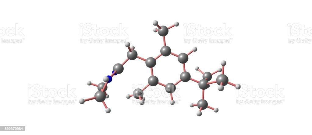 Xylometazoline molecular structure isolated on white stock photo