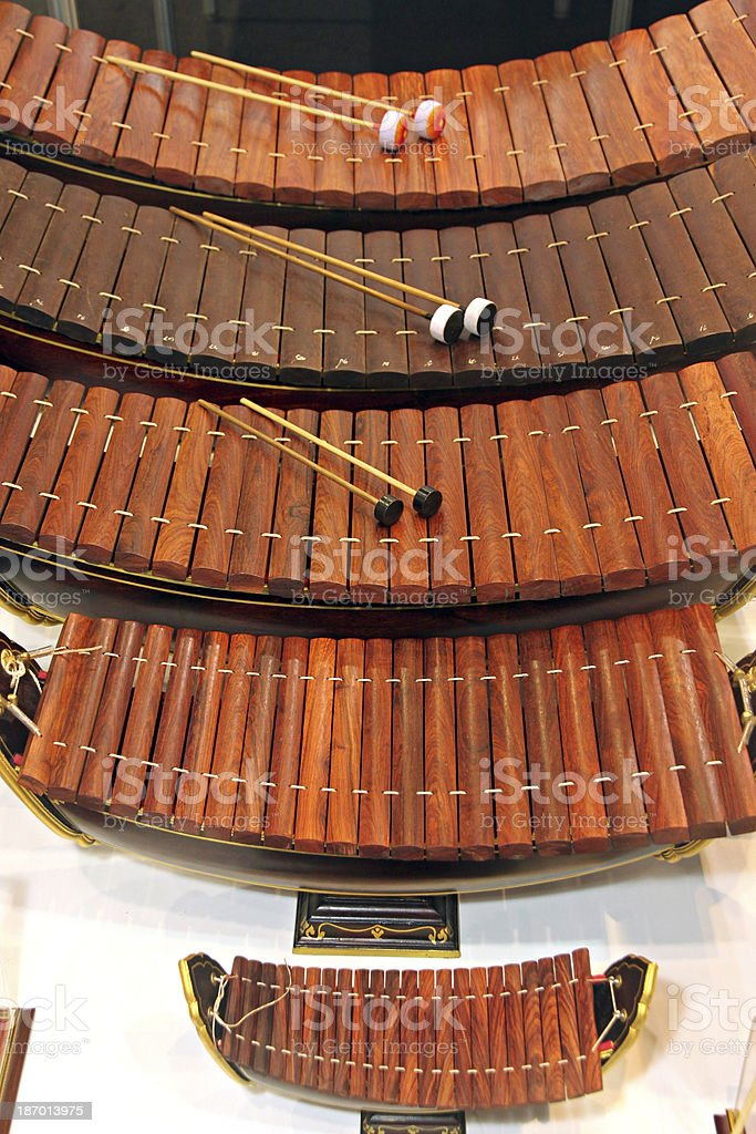 Xylophone Musical instrument of Thailand. stock photo