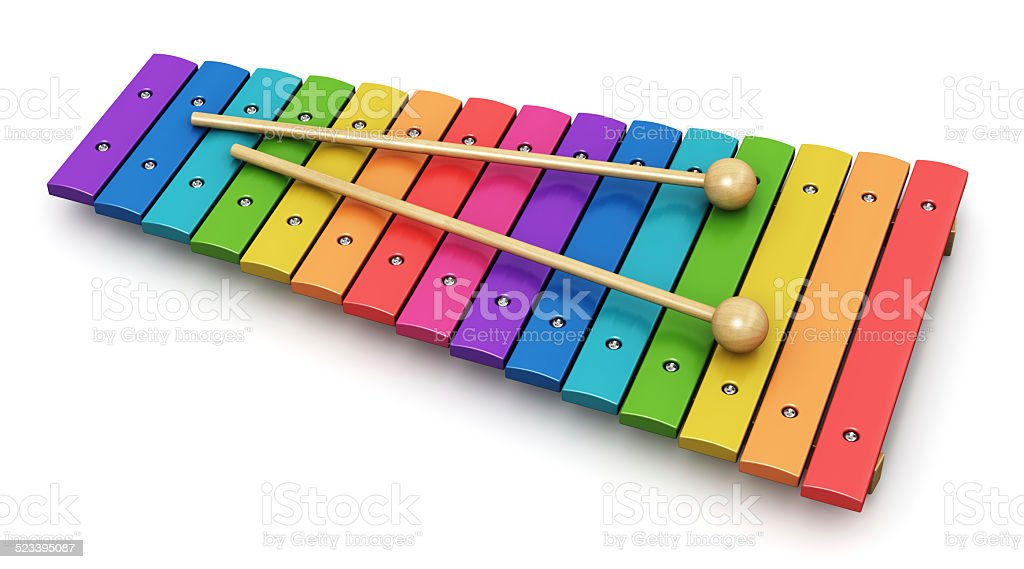 Xylophone stock photo