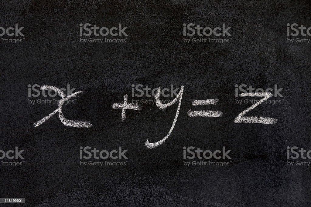 x+y=z stock photo