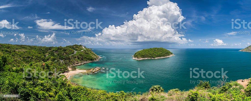 Ya Nui beach panorama in Phuket island in Thailand stock photo