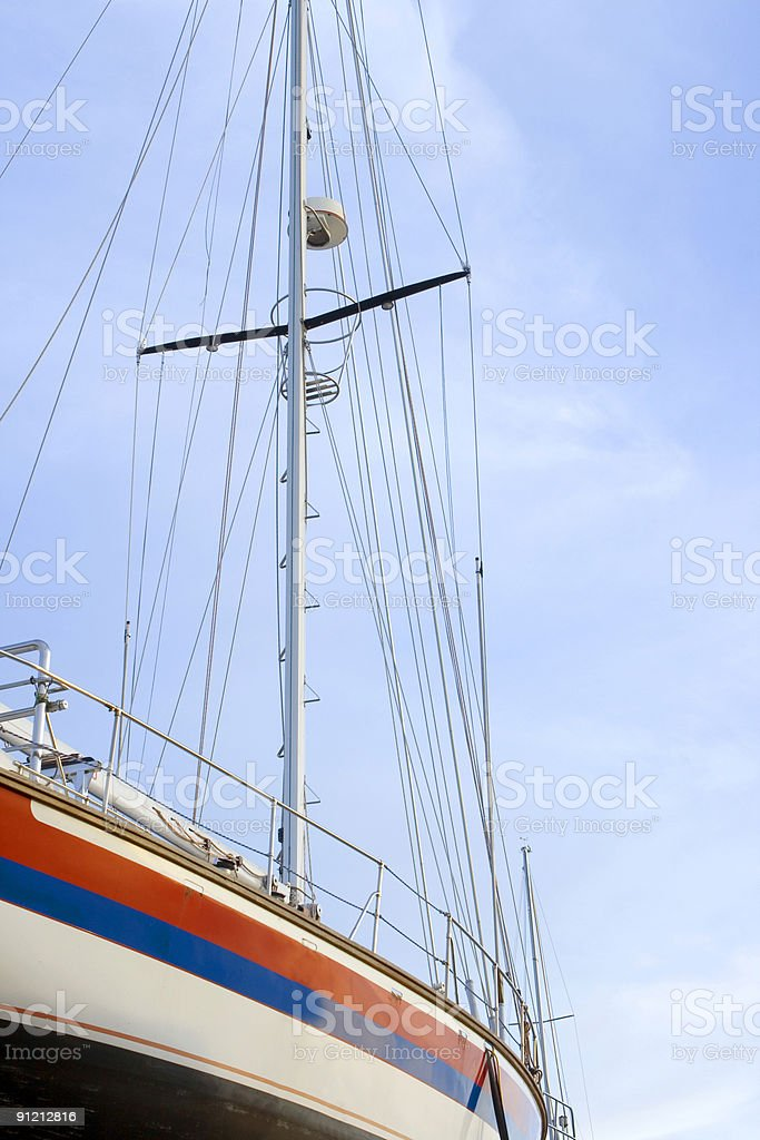 yacht against the sky royalty-free stock photo