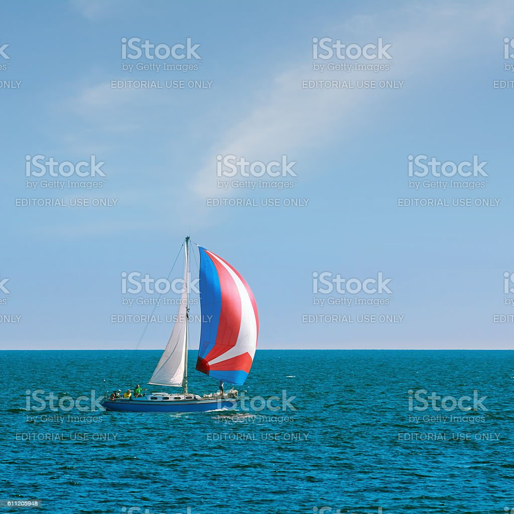 Yacht Aquarius in Regatta 'Pro-Am Race' stock photo