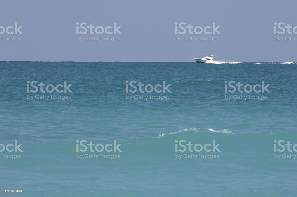 Yacht At Sea royalty-free stock photo