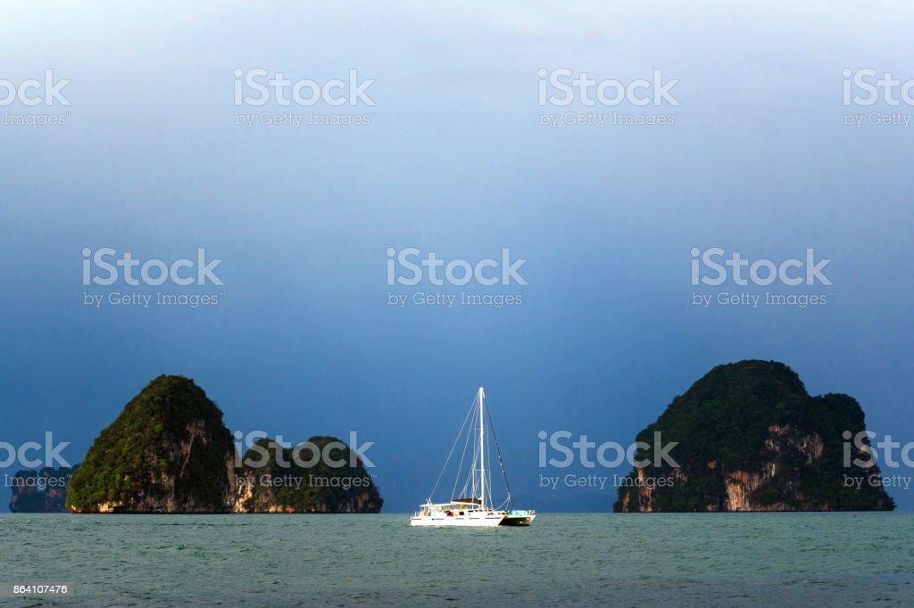 Yacht at sea royalty-free stock photo