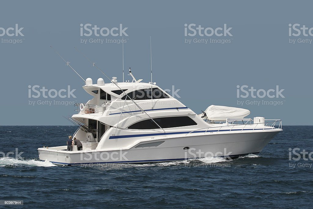 Yacht At Sea stock photo