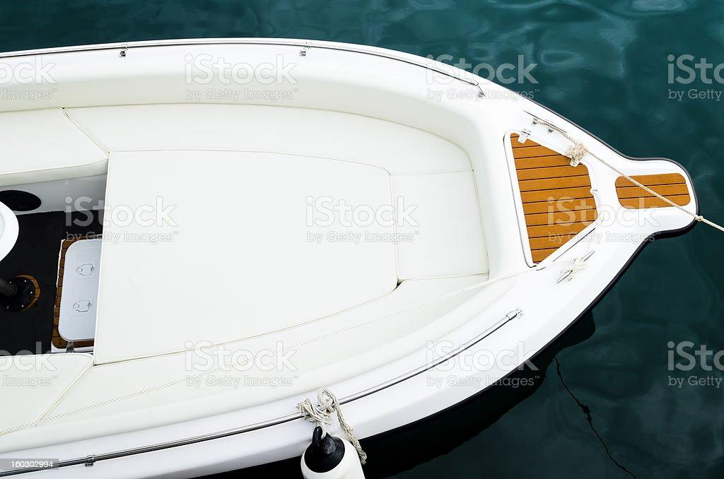 Yacht Bow royalty-free stock photo