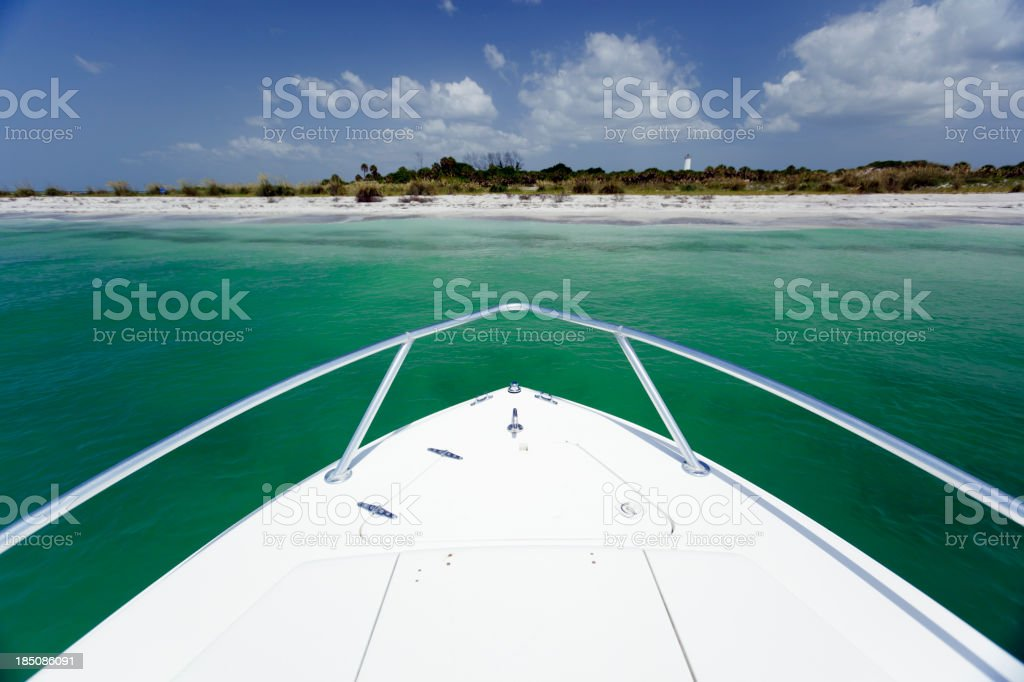 yacht bow stock photo