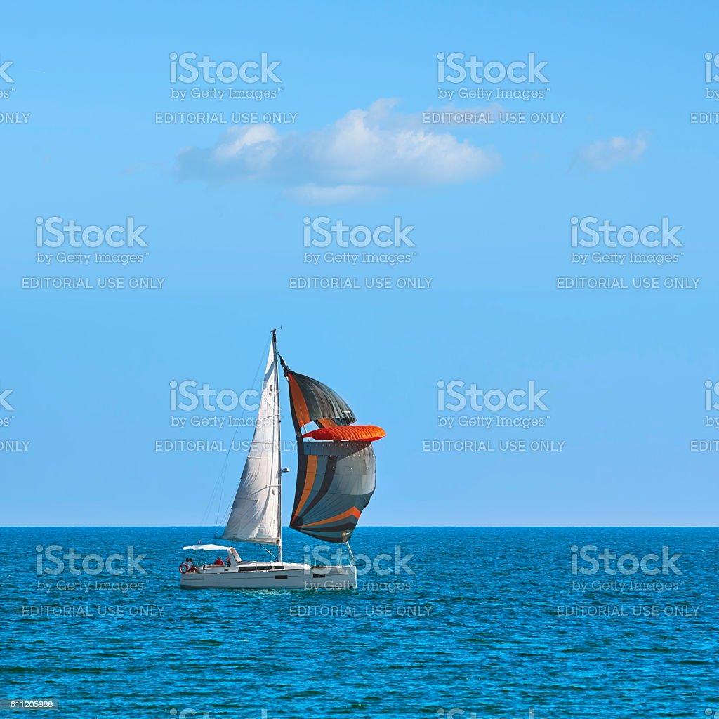 Yacht Cassiopeia in Regatta 'Pro-Am Race' stock photo