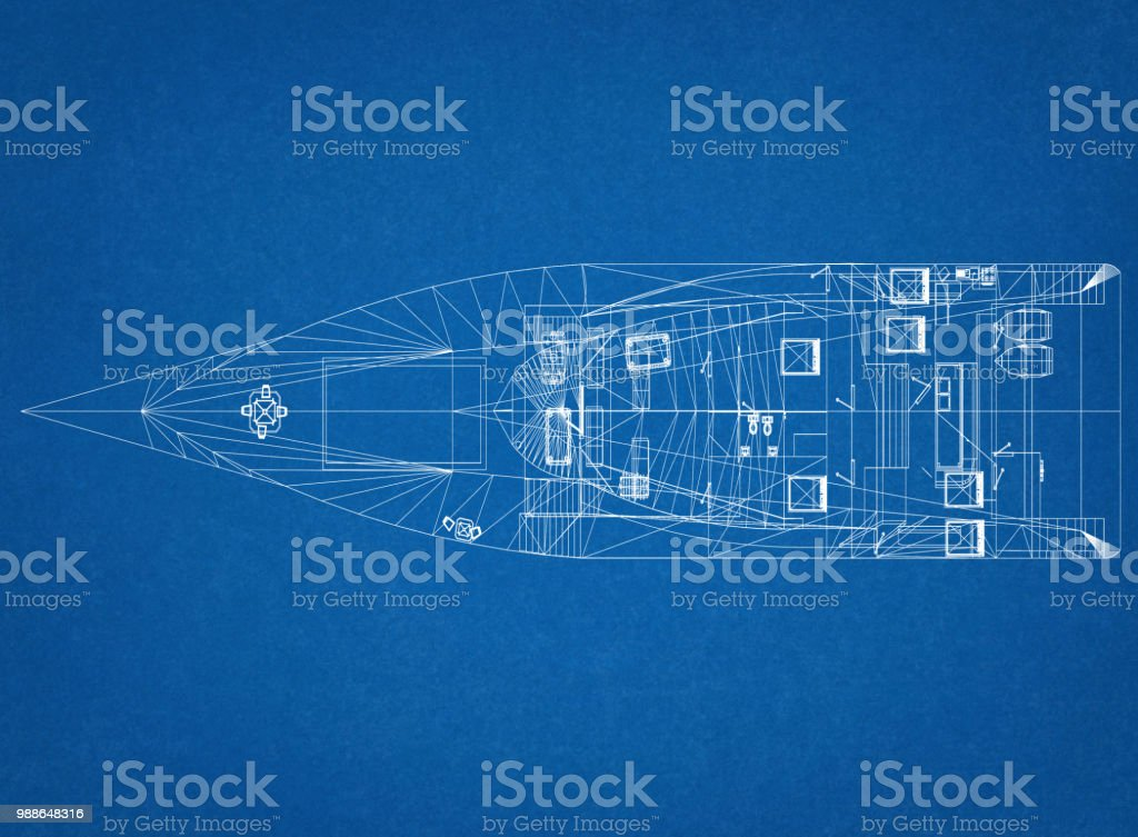 Yacht-Konzept Architekt Blueprint – Foto