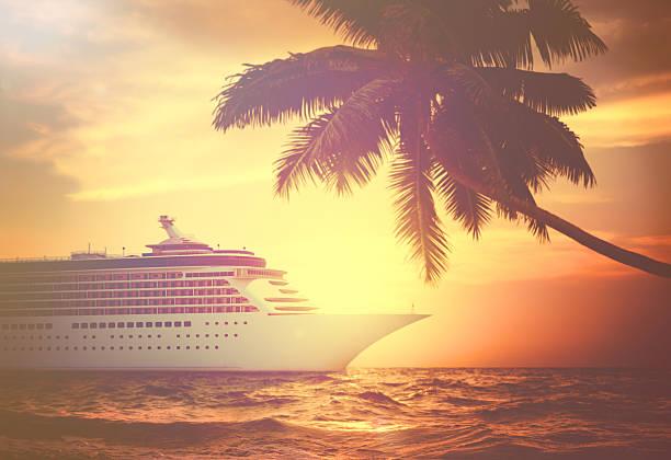 yacht cruise ship sea ocean tropical scenic concept - cruise ship stock photos and pictures