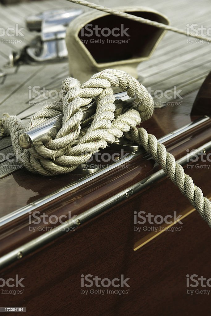 Yacht Detail royalty-free stock photo