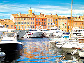 View of Saint-Tropez, south of France, French Riviera.