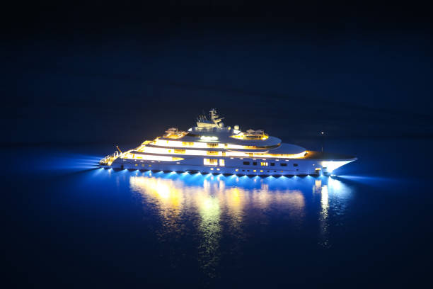 Yacht in Adriatic sea stock photo