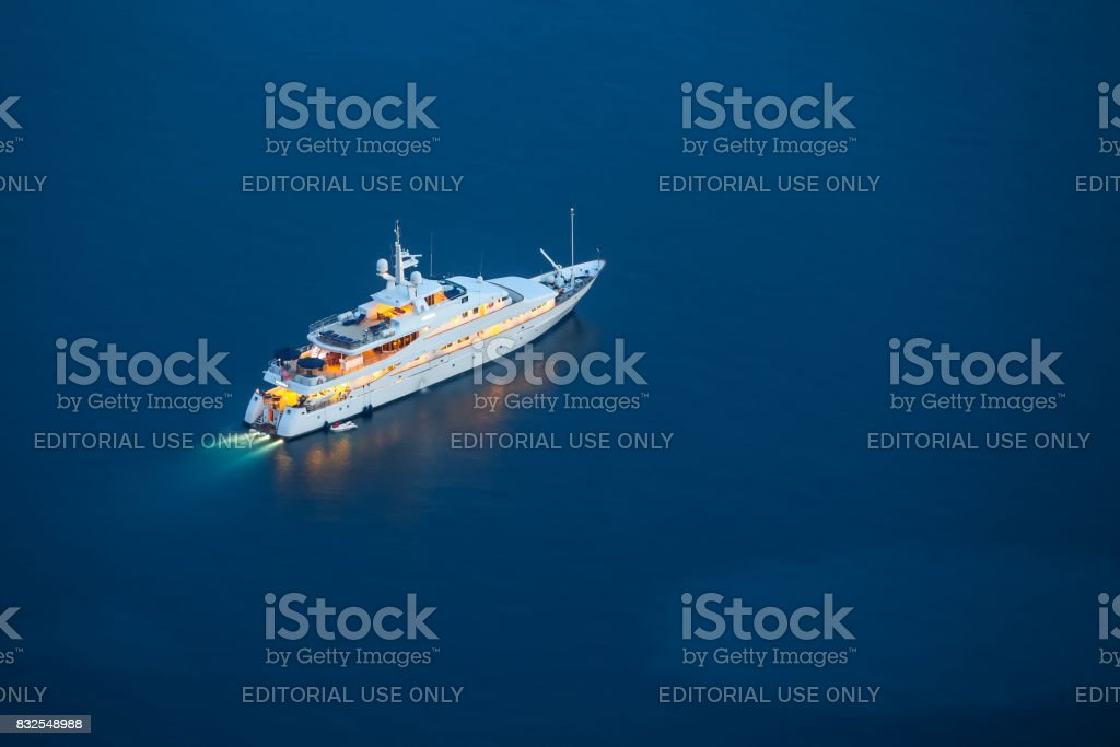 Yacht in Adriatic sea stock photo