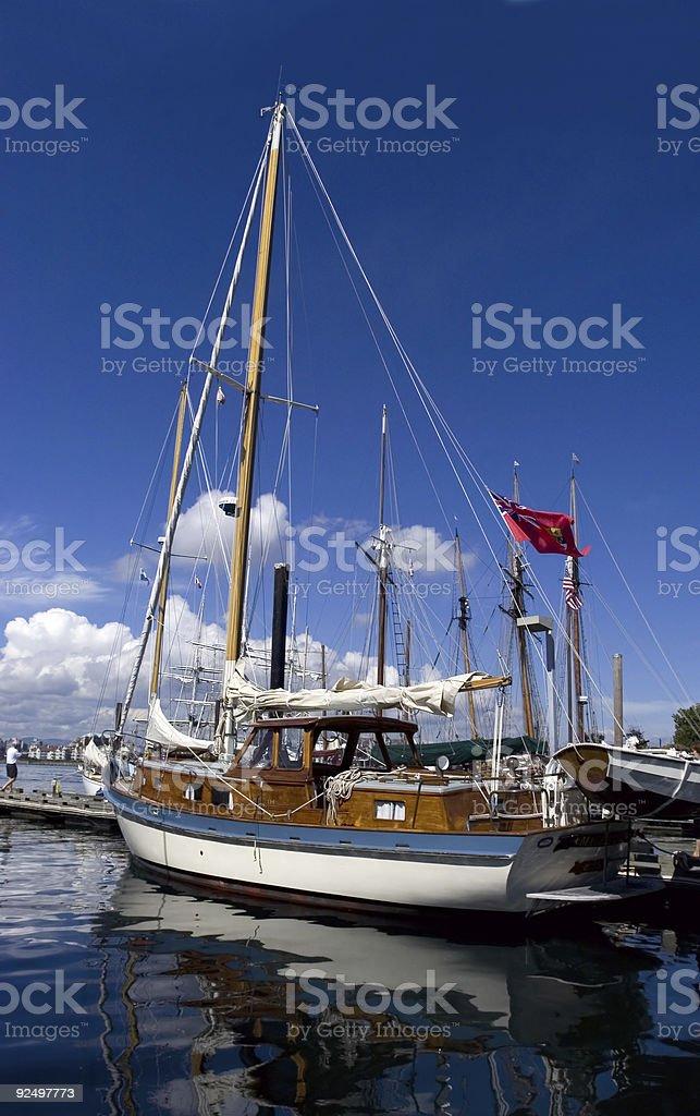 Yacht im Hafen Lizenzfreies stock-foto