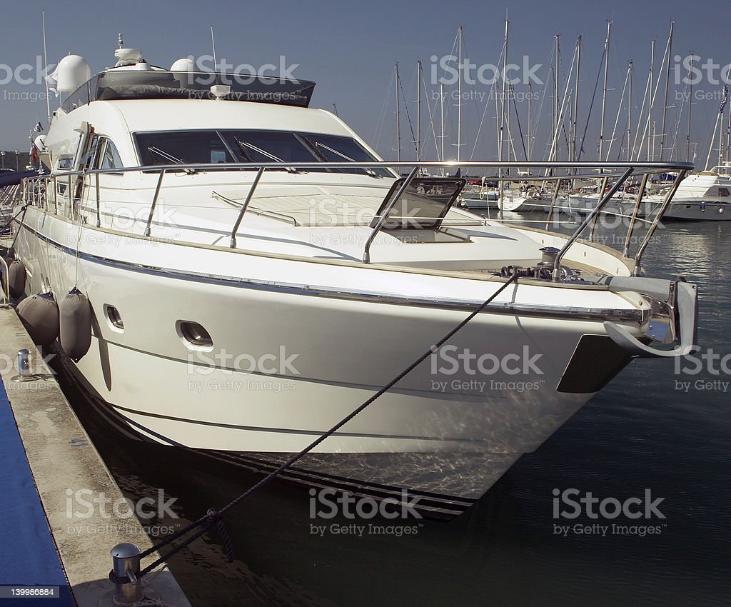 Yacht in marine royalty-free stock photo
