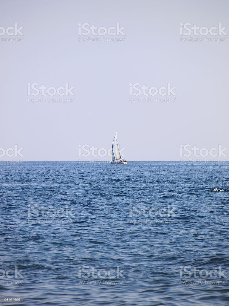 Yacht in the Black Sea royalty-free stock photo