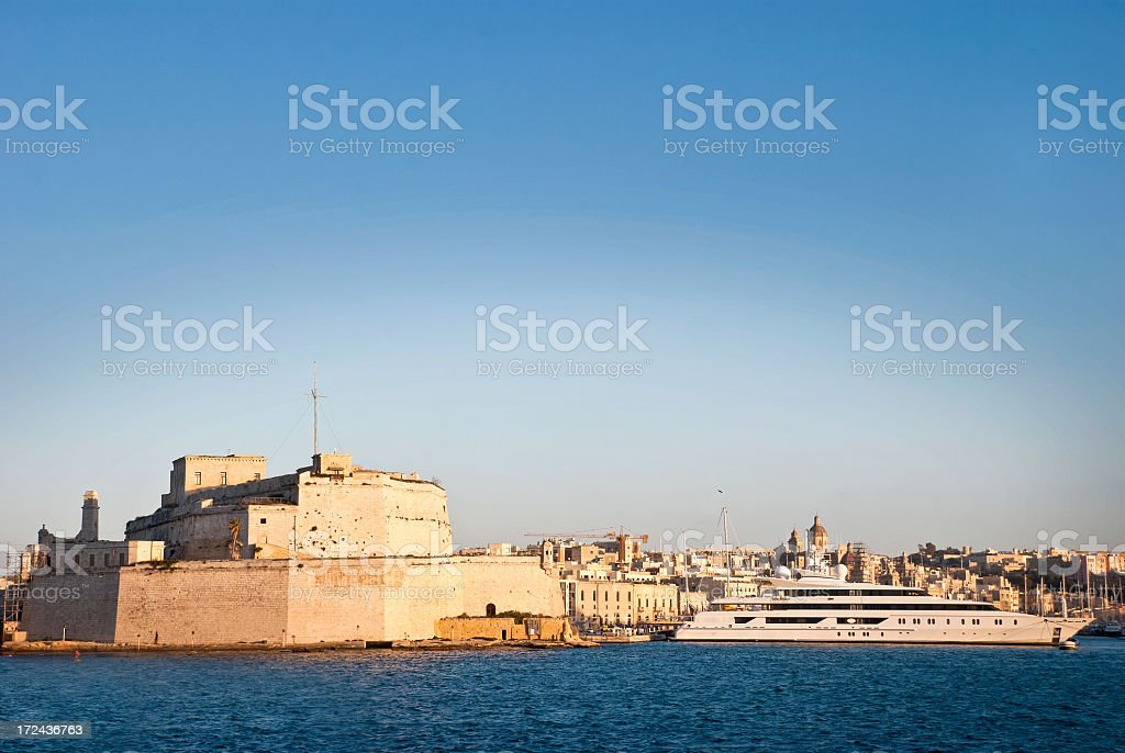 Yacht in the Harbor royalty-free stock photo