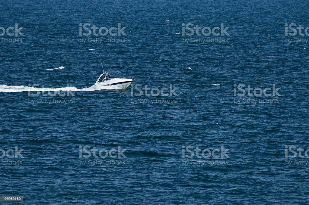 Yacht in the sea royalty-free stock photo