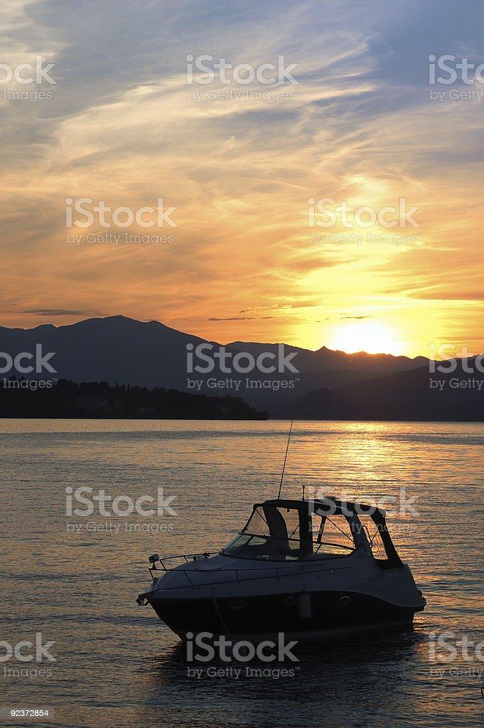 Jacht See Morgendämmerung Lizenzfreies stock-foto