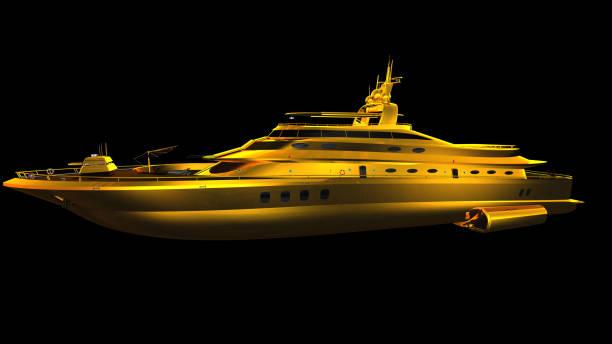 Yacht aus gold – Foto