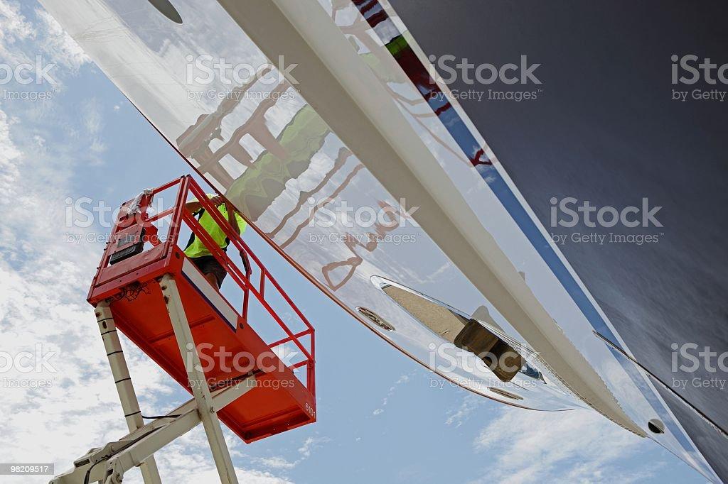 Yacht maintenance royalty-free stock photo