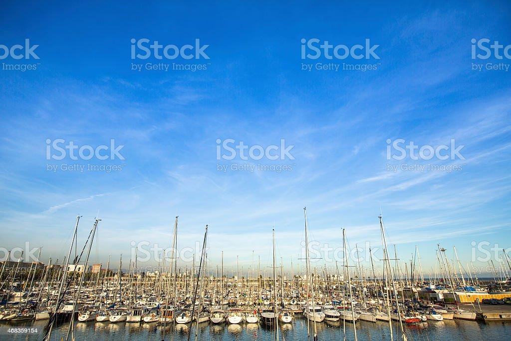 Yacht Marina in the Mediterranean sea. royalty-free stock photo