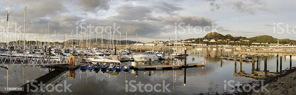 Yacht Marina - Panorama stock photo