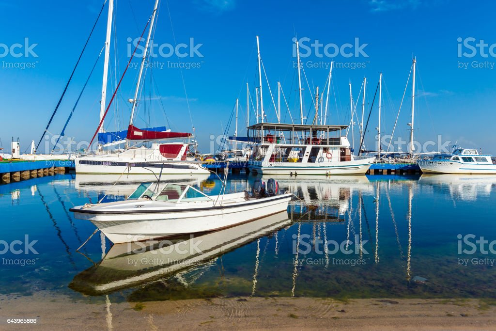 Yacht marine in Cienfuegos stock photo