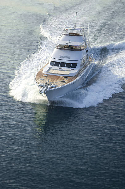 yacht - yacht front view stock photos and pictures