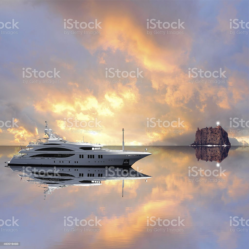 Yacht. stock photo