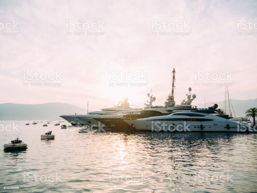 Yacht Porto Montenegro. Elite area of Tivat royalty-free stock photo